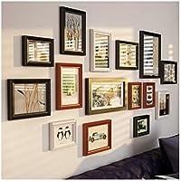 Gran Collage de múltiples Marcos de Fotos, combinación de Madera Maciza de Lujo Conjunto de