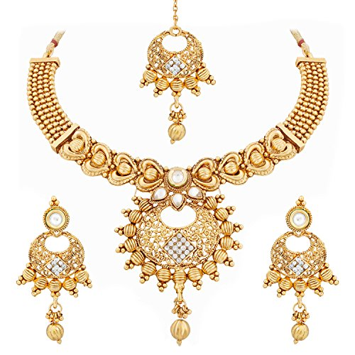 Trushi LIGHTWEIGHT BEAUTIFUL GOLD PLATED NECKLACE SET ...  sc 1 st  My Manthan : gold plated necklace set - pezcame.com