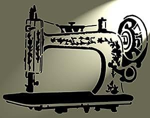 Pochoir en Mylar Machine à coudre Singer rustique vintage Shabby chic A4297x 210mm Meubles Chateau mur Art