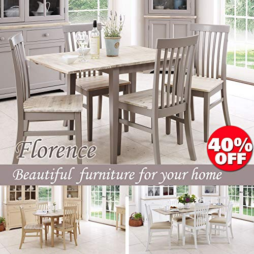 Florence square extended table. Truffle kitchen extendable table (75-110cm). Quality kitchen furniture.
