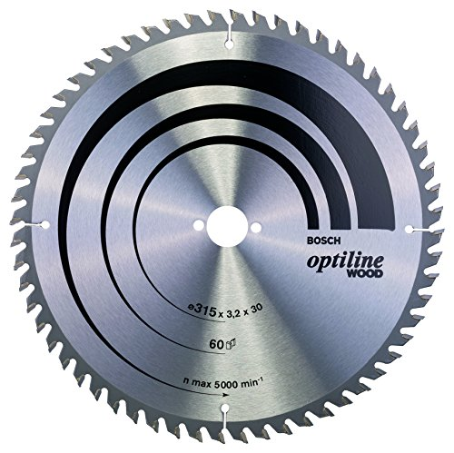Bosch Professional Kreissägeblatt Optiline Wood zum Sägen in Holz für Tischkreissägen (Ø 315 mm)