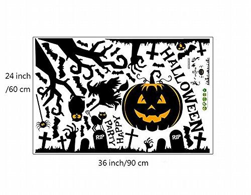 ürbis Dekoration Halloween - BUYDirect Feten Dekoration Atmosphäre Wand-Aufkleber (Dekoration, Halloween-fete)