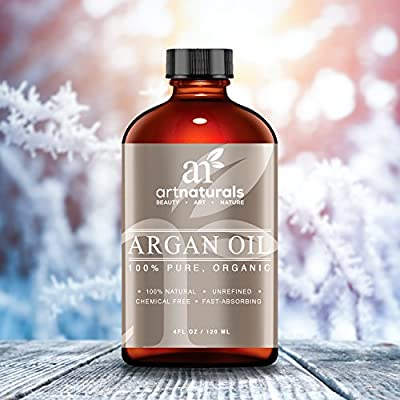 Art Naturals Organic Argan Oil for Hair, Face & Skin 120 ml - 100% Pure Grade A Triple Extra Virgin Cold Pressed From The kernels of the Moroccan Argan Tree - The Anti Aging, Anti Wrinkle Beauty Secret from ArtNaturals
