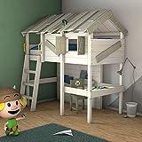 Cama para niños con escritorio WICKEY CrAzY Island 90 x 200