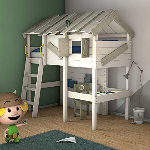 Cama niños escritorio WICKEY CrAzY Island 90 x 200
