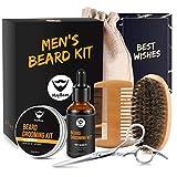 Beard Balm Kit MayBeau 6 Pcs Beard Grooming Kit for Men with Beard