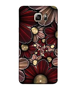 PrintVisa Designer Back Case Cover for Samsung Galaxy S6 Edge+ :: Samsung Galaxy S6 Edge Plus :: Samsung Galaxy S6 Edge+ G928G :: Samsung Galaxy S6 Edge+ G928F G928T G928A G928I (Flower like pearls attractive look)