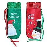 2 Stück Weihnachtswein Flaschen Geschenk Taschen Abdeckungen Abendessen Tisch Home Party Dekorationen Weihnachtsdekor