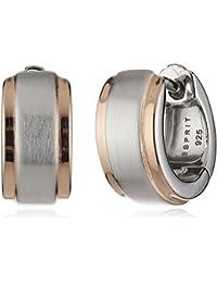 Esprit Damen-Creolen 925 Sterling Silber rhodiniert Ohne ESCO91895B000