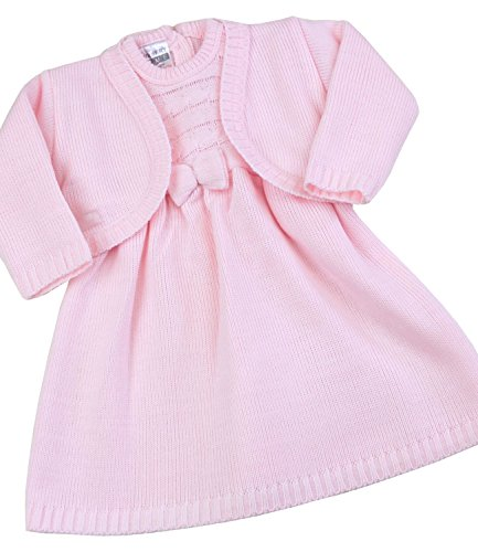 BabyPrem Baby Kleid Bolero Strickjäcke Set Mädchen Kleidung Rosa 68-74cm 6-9 MTH (Kleidung Mth)