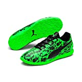 Puma Unisex-Kinder ONE 19.4 IT Jr Multisport Indoor Schuhe Grün (Green Gecko Black-Charcoal Gray), 33 EU