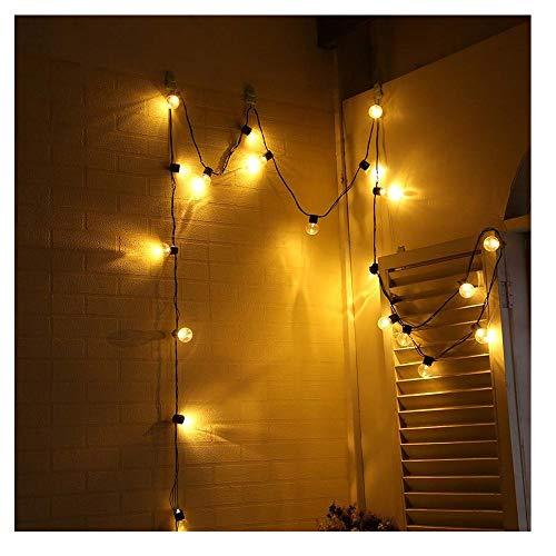 Kingko® Solar Lichterkette Garten Globe Außen mit LED Kugel 10er LED 2 Modi warmweiß Außenlichterkette Beleuchtung für Weihnachten Modenschau, Tanz, Bühne etc (gelb)