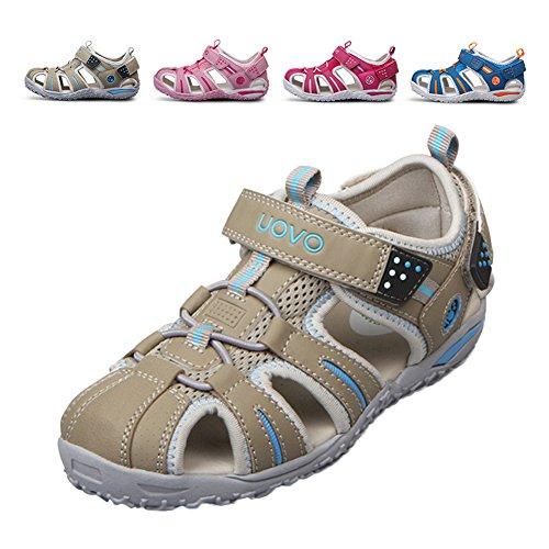 chengniu Plates Sandales d'été Ouvertes Sabots de Plage Enfant Garcon Fille Gris