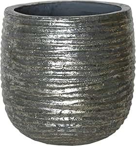 Iron & Clay W110332 - Übertopf Wave, Metallic, ID 16,5 cm