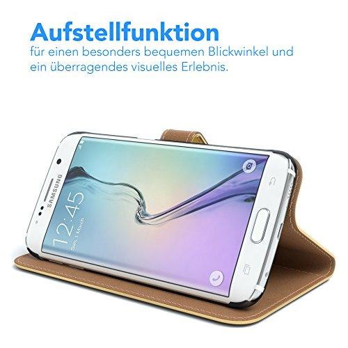 "Samsung Galaxy S6 Edge Plus Hülle - EAZY CASE Ultra Slim Cover ""Clear"" Handyhülle –Transparente Schutzhülle als Smartphone Case in (durchsichtig) Transparent Metallic Gold"