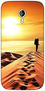 Snoogg desert sunset Designer Protective Back Case Cover For Micromax A116