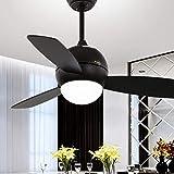 AXCJ Beleuchtung Kronleuchter der Deckenventilator von Kindern die Schlafzimmer Ventilator Schwarzlicht LED Kronleuchter von Lüftung,Wcontrol-42 Zoll