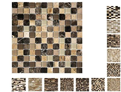 1 Qm Marmor Glas Mosaik Castano Cream 23 Ambiente von Mosaikdiscount24 auf TapetenShop