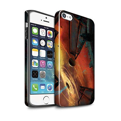 Offiziell Chris Cold Hülle / Glanz Harten Stoßfest Case für Apple iPhone SE / Exoplanet Muster / Galaktische Welt Kollektion Schwarzes Loch