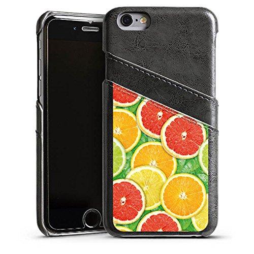 Apple iPhone 5 Housse Étui Silicone Coque Protection Citron Orange Étui en cuir gris