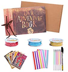 Idea Regalo - our Adventure Book Movie Up Travel album per scrapbook fai da te a mano con 80 pagine per viaggi, baby shower, anniversario, matrimonio, famiglia
