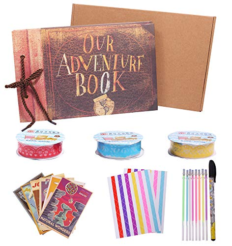 Our adventure book movie up travel album per scrapbook fai da te a mano con 80 pagine per viaggi, baby shower, anniversario, matrimonio, famiglia