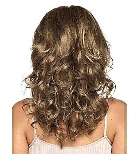 DAYN Gute Qualität Synthetische Perücke Mittel Ziemlich Wellig Haar Perücke Mix -