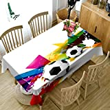 3D Tablecloth Christmas Fresh Green Botany Pattern Washable Cloth Thicken Rectangular And Round Table Cloth for Wedding-A,W 80cm*H 150