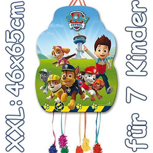 Paw Patrol XXL-Pinata Zugpinata für Kindergeburtstag | Größe: 33x46cm | Piñata für Kinder Geburtstag Spiele Spass (Piñata Eine Kaufen)