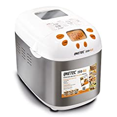 Idea Regalo - Imetec Zero-Glu Macchina del Pane e Dolci Senza Glutine, Impasta, Lievita e Cuoce,  20 Programmi, 3 Forme Diverse di Pane, Avvio Programmabile, con Ricettario