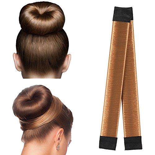 iKulilky Donut Hair Bun Maker/Dutt Hilfe, 5 Stücke Damen French Bun hair styling tool, Twist Haar Brötchen Haarstyling Donut Haarband Haargummi für lange und kurze Haare geeignet