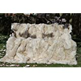Lammfelldecke 200 x 155 cm creamweiß Felldecke Toscana Lammfell