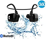 i360 Bluetooth 8GB wasserdichte MP3-Player-Ohrhörer Ohrhörer Headset (Black Edition) Hören Sie Ihre Musik, während Schwimmen / Laufen / Training / Gym Fuss frei ohne eine Schnur! Unterwassersport-MP3-