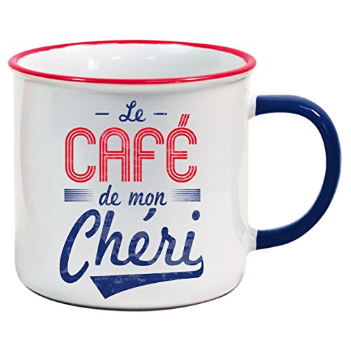 VDF - Le Café de mon Chéri - MUG - HG045 - cadeau - céramique - Tasse rétro Vintage Old School