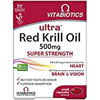 Ultra 500mg Red Krill Oil Capsules - Pack of 30 capsules (Packaging May Vary)