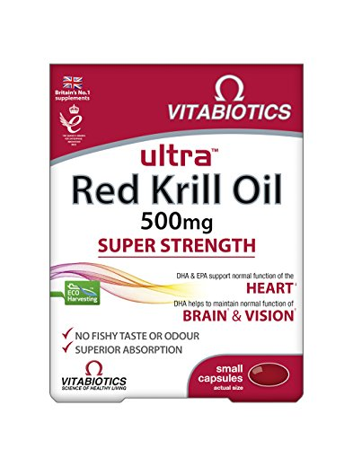 Ultra 500mg Red Krill Oil Capsules - Pack of 30 capsules (Packaging May Vary) Test