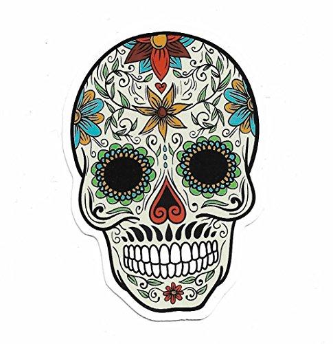 greestick Aufkleber Totenkopf by Sticker Bomb einzeln farbig Mexikanisch Skull Vinyl Decal (Piraten-totenkopf-dekor)