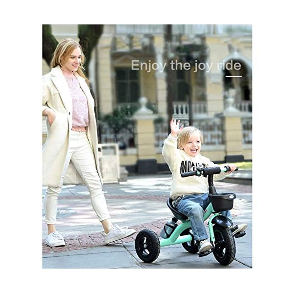GSDZSY - Children Kids Tricycle 3 Wheel Bike,High Carbon Steel Body, EVA Wheel, Seat And Handlebars Adjustable,2-6 Years,B GSDZSY  3