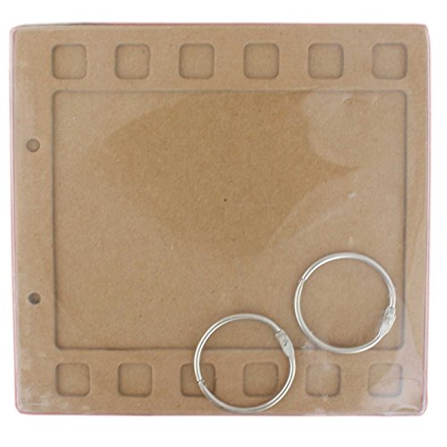 Tootpado Filmstrip Style Chipboard Mini Album Scrapbook Brown DIY Art & Craft Activites