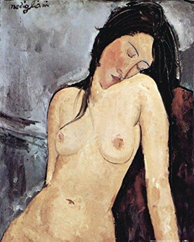 Amedeo Modigliani Kunstdruck (1art1 58428 Amedeo Modigliani - Sitzender Akt, 1916 Poster Kunstdruck 50 x 40 cm)