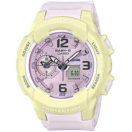 Baby-G Shock By Casio Women's BGA230PC-9B Analog-Digital Watch Pink Yellow -
