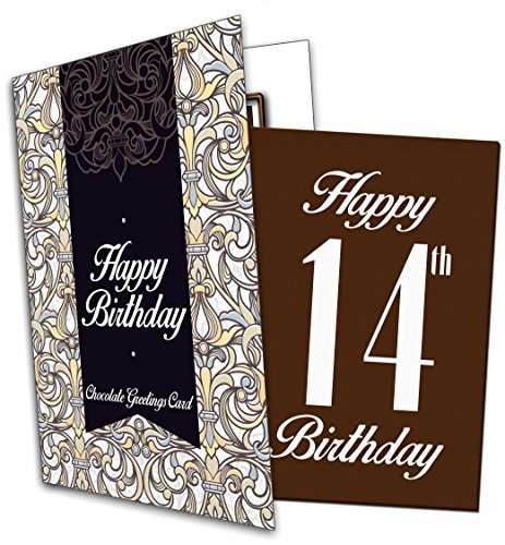 Price comparison product image Happy 14th Birthday - Chocolate Greeting Card