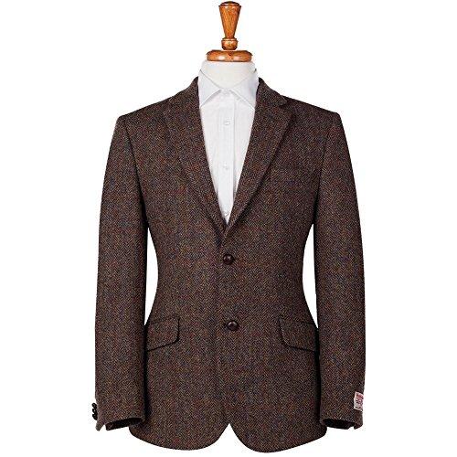 Harris Tweed Hebrides - Blouson - Veste damassée - Homme - marron -