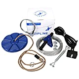 CTSC 29m Zip Wire Kit with Brake and Seat For Kids and Adults (blue)