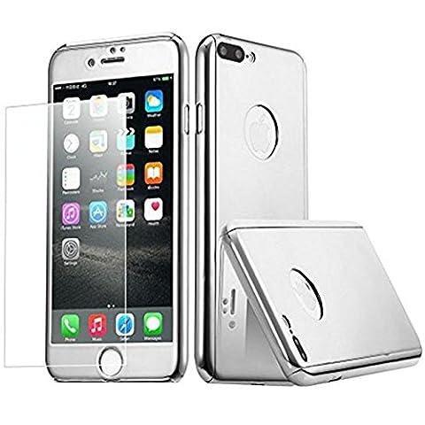 iPhone 7 Plus Hülle Teryei® Ultra PC Hartcase Mirror Surface Leichtes Aluminium Galvanisieren Dünne Stoßfest Bumper Cover Schutzhülle Alle Runden Schutz Case für iPhone 7 Plus (Silber)