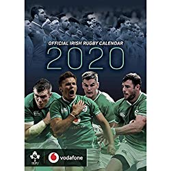 Global Merchandising Irfu Offizieller 2020-Wandkalender vom irischem Rugbyteam, A3
