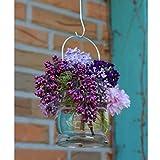 BODA Creative Windlichter, 12 Stück mit Henkel, Laterne Glaslaterne Garten-Deko, Ø 9cm - 5