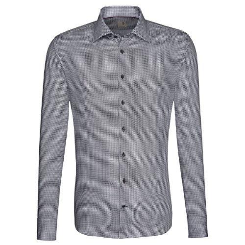 Seidensticker -  Camicia classiche  - Classico  - Maniche lunghe  - Uomo Grigio