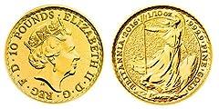 Idea Regalo - Moneta Britannica in oro puro da 10 sterline