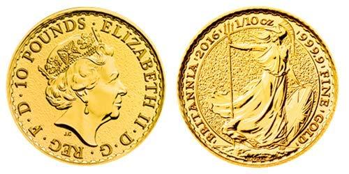 1/10 Unze Feingold Münze Britannia Goldmünze -